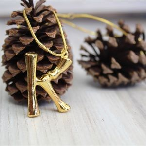 Jewelry - Bamboo Letter Necklace lowest price on PM!!